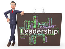 Leadership Words Represents Influence Guidance And Control Stock Images