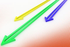 Leading Arrows In  Halftone Background Royalty Free Stock Photography