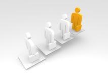 Leading businessman Stock Image
