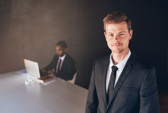 Leading the company to success Stock Photography