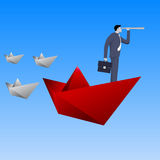 Leading the fleet business concept Royalty Free Stock Photos