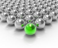 Leading Metallic Ball Showing Leadership Or Winning Royalty Free Stock Photos