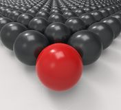 Leading Metallic Ball Shows Leadership Or Acheiving Stock Photos