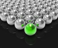 Leading Metallic Ball Shows Leadership Or Winning Stock Photography