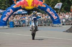 Leading motofristayler Russia Alexey Kolesnikov Royalty Free Stock Photo