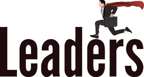 Leading person with mantle Royalty Free Stock Image