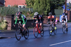 Leading riders stage 4 tour of Britain cycle race Stock Images