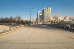 Leading to the city's boardwalk. Theboardwalk leading to the city of beijing,China Stock Image