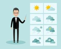 Leading Weather Forecast Royalty Free Stock Photography