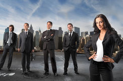 Leading woman Stock Photography