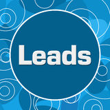 Leads Abstract Blue Background. Leads text written over blue background Royalty Free Stock Image