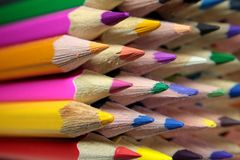 Leads of colored pencils Royalty Free Stock Photos