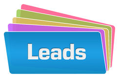 Leads Colorful Squares Stack. Leads text written over colorful background Royalty Free Stock Photography