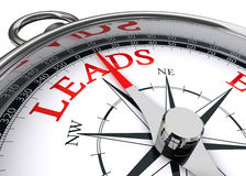 Leads conceptual compass Stock Photography