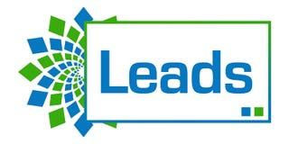 Leads Green Blue Circular Horizontal Royalty Free Stock Images