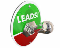 Leads Sales Prospects Customers Switch Stock Photo