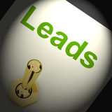 Leads Switch Means Lead Generation Or Sales Royalty Free Stock Photo