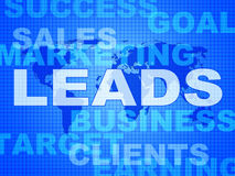 Leads Words Indicates Corporate Consumerism And Sale. Leads Words Showing Vending E-Commerce And Retail Royalty Free Stock Images