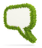 Leaf 3D speech bubble Stock Photography