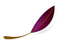 Leaf. Simple violet leaf on white background Royalty Free Stock Photography