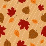 Leaf. Vector illustration autumn seamless wallpaper Stock Photo