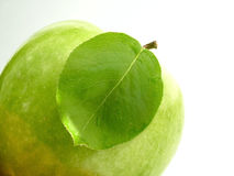 Leaf & apple Royalty Free Stock Image