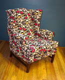 Leaf Armchair. Wonderful leaf pattern on this armchair Stock Image