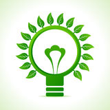 Leaf around the green bulb Royalty Free Stock Photo