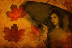 Leaf, Autumn, Maple Leaf, Yellow Royalty Free Stock Photography