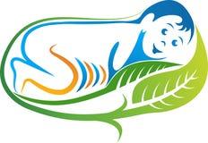 Leaf baby logo Stock Image