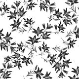 Leaf background. Floral seamless texture with lily Royalty Free Stock Images