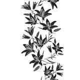 Leaf background. Floral seamless texture with lily Stock Images