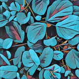 Leaf background in painting style. Digital illustration of garden plant. Royalty Free Stock Photos