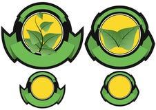 Leaf badge Stock Photography