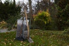 Leaf bag cart Royalty Free Stock Photo