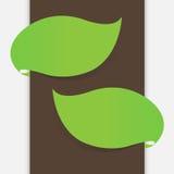 Leaf banner Stock Image