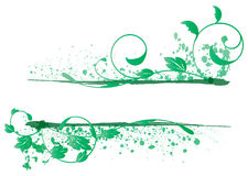 Leaf banner. Banner of the branches and leaves of green Royalty Free Stock Photos