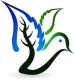 Leaf bird logo Stock Photography