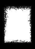 Leaf Border. Leaves in black as a border vector illustration