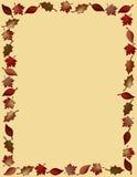 Leaf border. Frame or border of brightly colored autum leaves vector illustration