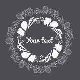 Leaf border and circle frame. Royalty Free Stock Photography