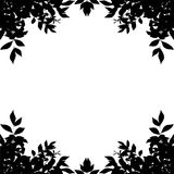 Leaf border silhouette  on white background. Clipping pa Royalty Free Stock Image
