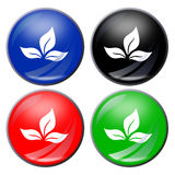 Leaf button Royalty Free Stock Photography