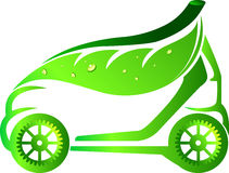 Leaf car. Illustration art of a leaf car with isolated background Royalty Free Stock Image