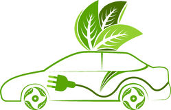 Leaf car. Illustration art of a leaf car with isolated background Stock Images