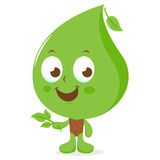 Leaf cartoon character Stock Photo