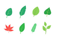 Leaf cartoon_version1 Royalty Free Stock Images
