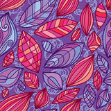 Leaf character flower behind crazy seamless pattern Royalty Free Stock Photo