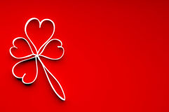 Leaf of clover from hearts. Stock Images