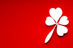 Leaf of clover from hearts. Stock Photography